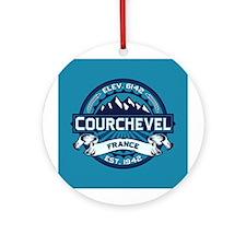 Courchevel Ice Ornament (Round)
