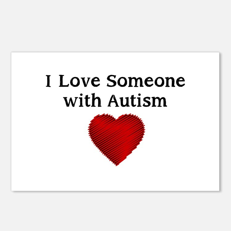 I love someone with autism Postcards (Package of 8
