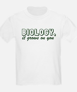 Biology, It grows on you Kids T-Shirt