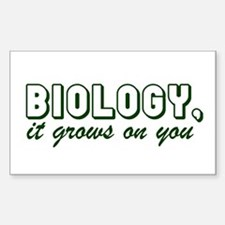Biology, It grows on you Rectangle Decal