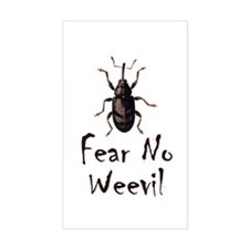 Fear No Weevil Rectangle Stickers