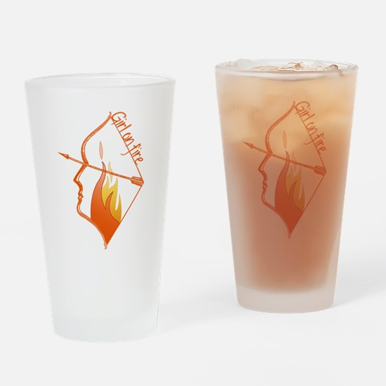 Girl on Fire Drinking Glass