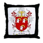 de Bock Coat of Arms Throw Pillow