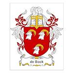 de Bock Coat of Arms Small Poster