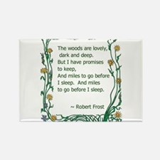 Robert Frost Rectangle Magnet