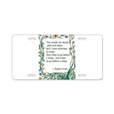 Robert Frost Aluminum License Plate