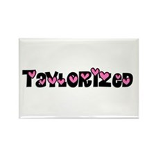 Taylorized Heart Rectangle Magnet