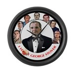 George S circle Large Wall Clock