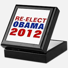 RE-ELECT OBAMA 2012 Keepsake Box