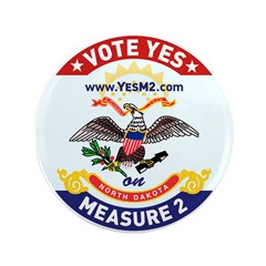 """3.5"""" ND Flag Button (100 pack)"""