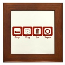 Sleep- Play- Eat- Repeat Framed Tile