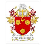 Van Bloemendal Coat of Arms Small Poster