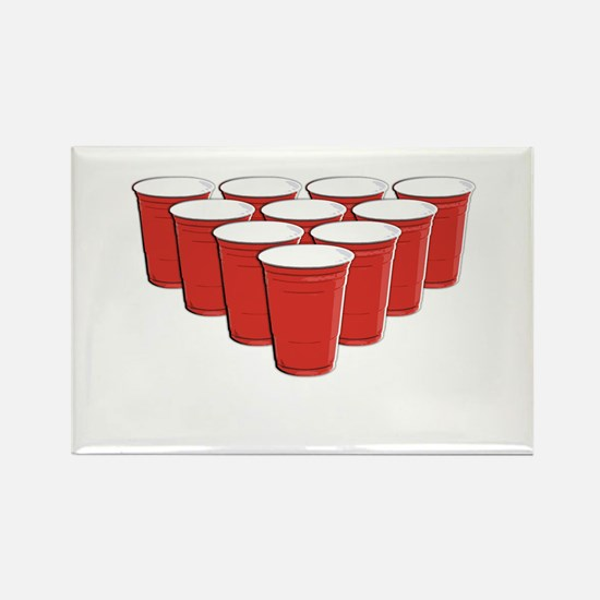 Beer Pong Rectangle Magnet