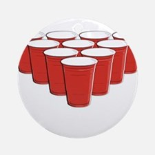 Beer Pong Ornament (Round)
