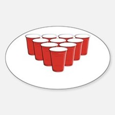 Beer Pong Sticker (Oval)