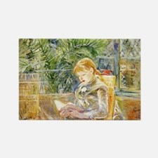 Girl Reading Rectangle Magnet