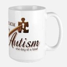Au-some Mom Unlocking Autism Large Mug