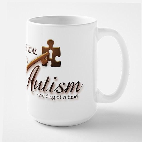 Au-some Mom Unlocking Autism Large Mug