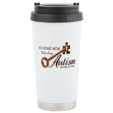 Au-some Mom Unlocking Autism Travel Mug