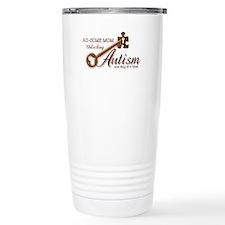 Au-some Mom Unlocking Autism Travel Mug
