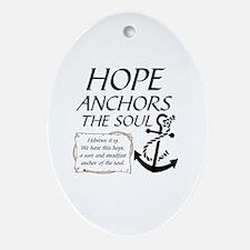 Cute Hope Oval Ornament