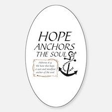 Unique Anchor Sticker (Oval)