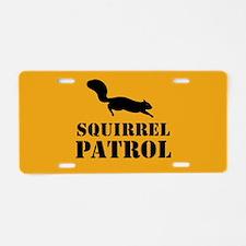 Squirrel Patrol Aluminum License Plate