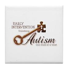 E.I. Unlocks Autism Tile Coaster