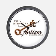 E.I. Unlocks Autism Wall Clock