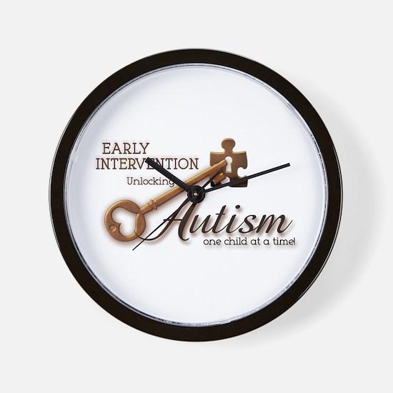 E.I. Unlocks Autism Wall Clock
