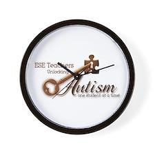 ESE Teachers Unlock Autism Wall Clock
