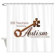 ESE Teachers Unlock Autism Shower Curtain