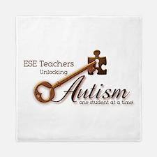 ESE Teachers Unlock Autism Queen Duvet