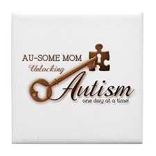 Au-some Mom Unlocking Autism Tile Coaster