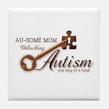 Au-some Mom Unlocking Autism Tile Coaster