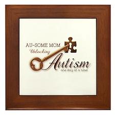 Au-some Mom Unlocking Autism Framed Tile