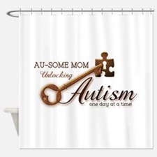 Au-some Mom Unlocking Autism Shower Curtain