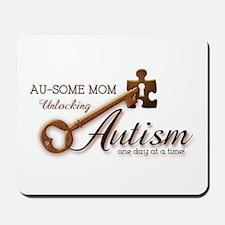 Au-some Mom Unlocking Autism Mousepad