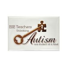 ESE Teachers Unlock Autism Rectangle Magnet