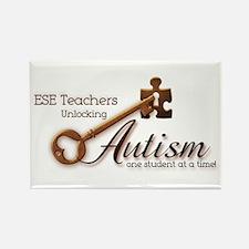 ESE Teachers Unlock Autism Rectangle Magnet (100 p