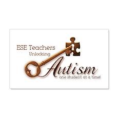ESE Teachers Unlock Autism 22x14 Wall Peel