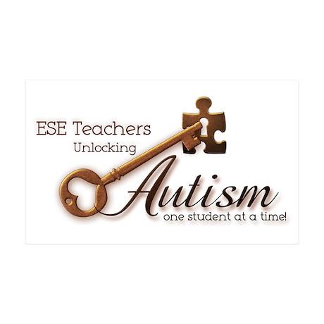 ESE Teachers Unlock Autism 38.5 x 24.5 Wall Peel