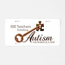 ESE Teachers Unlock Autism Aluminum License Plate