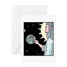 Gods Wash me Earth sign Greeting Card