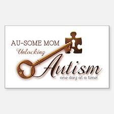Au-some Mom Unlocking Autism Bumper Stickers