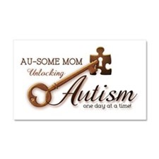 Au-some Mom Unlocking Autism Car Magnet 20 x 12