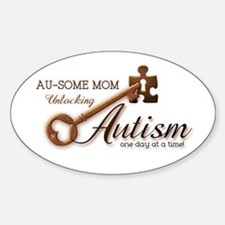 Au-some Mom Unlocking Autism Sticker (Oval)