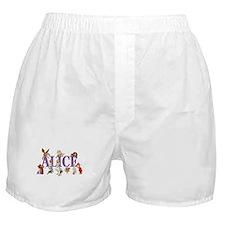 Alice & Friends in Wonderland Boxer Shorts