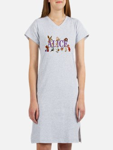 Alice & Friends in Wonderland Women's Nightshirt