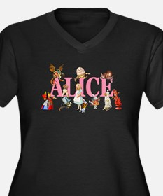 Alice & Friends in Wonderland Women's Plus Size V-
